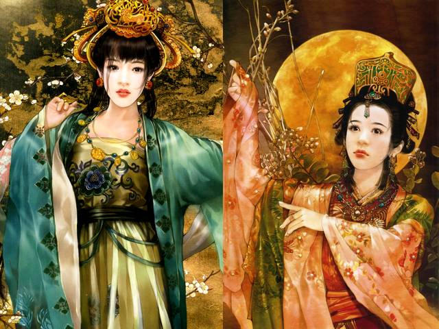 Chinese Beauties Mei Fei and Diao Chan by Der Jen - 'Mei Fei and Diao Chan', portraits of Chinese beauties in magnificent national costumes by Der Jen (Dezhen), the Taiwanese artist. - , Chinese, beauties, beauty, Mei, Fei, Diao, Chan, Der, Jen, art, arts, portraits, portrait, magnificent, national, costumes, costume, Dezhen, Taiwanese, artist, artists - 'Mei Fei and Diao Chan', portraits of Chinese beauties in magnificent national costumes by Der Jen (Dezhen), the Taiwanese artist. Solve free online Chinese Beauties Mei Fei and Diao Chan by Der Jen puzzle games or send Chinese Beauties Mei Fei and Diao Chan by Der Jen puzzle game greeting ecards  from puzzles-games.eu.. Chinese Beauties Mei Fei and Diao Chan by Der Jen puzzle, puzzles, puzzles games, puzzles-games.eu, puzzle games, online puzzle games, free puzzle games, free online puzzle games, Chinese Beauties Mei Fei and Diao Chan by Der Jen free puzzle game, Chinese Beauties Mei Fei and Diao Chan by Der Jen online puzzle game, jigsaw puzzles, Chinese Beauties Mei Fei and Diao Chan by Der Jen jigsaw puzzle, jigsaw puzzle games, jigsaw puzzles games, Chinese Beauties Mei Fei and Diao Chan by Der Jen puzzle game ecard, puzzles games ecards, Chinese Beauties Mei Fei and Diao Chan by Der Jen puzzle game greeting ecard