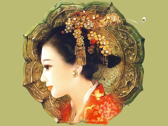 Chinese Girl with Adornment by Der Jen - Portrait of Chinese girl with beautiful adornment in her hair, a painting from 'The Zephyr - Love Stories of the Royal Manchu in the Forbidden City', a huge collection with illustrations of people, lived in ancient China, by Taiwanese artist Der Jen (Dezhen). - , Chinese, girl, girls, adornment, adornments, Der, Jen, art, arts, portrait, portraits, beautiful, painting, paintings, Zephyr, love, stories, story, Royal, Manchu, Forbidden, City, cities, huge, collection, collections, illustrations, illustration, people, ancient, China, Taiwanese, artist, artists, Dezhen - Portrait of Chinese girl with beautiful adornment in her hair, a painting from 'The Zephyr - Love Stories of the Royal Manchu in the Forbidden City', a huge collection with illustrations of people, lived in ancient China, by Taiwanese artist Der Jen (Dezhen). Solve free online Chinese Girl with Adornment by Der Jen puzzle games or send Chinese Girl with Adornment by Der Jen puzzle game greeting ecards  from puzzles-games.eu.. Chinese Girl with Adornment by Der Jen puzzle, puzzles, puzzles games, puzzles-games.eu, puzzle games, online puzzle games, free puzzle games, free online puzzle games, Chinese Girl with Adornment by Der Jen free puzzle game, Chinese Girl with Adornment by Der Jen online puzzle game, jigsaw puzzles, Chinese Girl with Adornment by Der Jen jigsaw puzzle, jigsaw puzzle games, jigsaw puzzles games, Chinese Girl with Adornment by Der Jen puzzle game ecard, puzzles games ecards, Chinese Girl with Adornment by Der Jen puzzle game greeting ecard