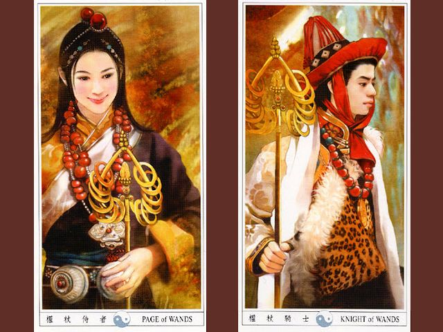 Chinese Tarot Page and Knight of Wands by Der Jen - Illustrations of 'Page of Wands' and 'Knight of Wands', from the beautiful tarot deck, known as 'Classic Chinese Ladies Tarot' or 'Der-Jen Tarot', with drawings of girl and boy, dressed in traditional Chinese costumes, made by Taiwanese artist Der Jen (Dezhen). - , Chinese, tarot, page, pages, knight, knights, wands, wand, Der, Jen, art, arts, illustrations, illustration, beautiful, deck, decks, classic, ladies, lady, drawings, drawing, girl, girls, boy, boys, traditional, Chinese, costumes, costume, Taiwanese, artist, artists, Dezhen - Illustrations of 'Page of Wands' and 'Knight of Wands', from the beautiful tarot deck, known as 'Classic Chinese Ladies Tarot' or 'Der-Jen Tarot', with drawings of girl and boy, dressed in traditional Chinese costumes, made by Taiwanese artist Der Jen (Dezhen). Solve free online Chinese Tarot Page and Knight of Wands by Der Jen puzzle games or send Chinese Tarot Page and Knight of Wands by Der Jen puzzle game greeting ecards  from puzzles-games.eu.. Chinese Tarot Page and Knight of Wands by Der Jen puzzle, puzzles, puzzles games, puzzles-games.eu, puzzle games, online puzzle games, free puzzle games, free online puzzle games, Chinese Tarot Page and Knight of Wands by Der Jen free puzzle game, Chinese Tarot Page and Knight of Wands by Der Jen online puzzle game, jigsaw puzzles, Chinese Tarot Page and Knight of Wands by Der Jen jigsaw puzzle, jigsaw puzzle games, jigsaw puzzles games, Chinese Tarot Page and Knight of Wands by Der Jen puzzle game ecard, puzzles games ecards, Chinese Tarot Page and Knight of Wands by Der Jen puzzle game greeting ecard