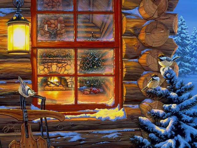 Christmas Eve Wallpaper - Wallpaper with beautiful painting of scene, which has been seen at the Christmas Eve throug the window of a cosy home. - , Christmas, Eve, eves, wallpaper, wallpapers, art, arts, cartoons, cartoon, holiday, holidays, feast, feasts, festivity, festivities, celebration, celebrations, seasons, season, beautiful, painting, paintings, scene, scenes, window, windows, cosy, home, homes - Wallpaper with beautiful painting of scene, which has been seen at the Christmas Eve throug the window of a cosy home. Solve free online Christmas Eve Wallpaper puzzle games or send Christmas Eve Wallpaper puzzle game greeting ecards  from puzzles-games.eu.. Christmas Eve Wallpaper puzzle, puzzles, puzzles games, puzzles-games.eu, puzzle games, online puzzle games, free puzzle games, free online puzzle games, Christmas Eve Wallpaper free puzzle game, Christmas Eve Wallpaper online puzzle game, jigsaw puzzles, Christmas Eve Wallpaper jigsaw puzzle, jigsaw puzzle games, jigsaw puzzles games, Christmas Eve Wallpaper puzzle game ecard, puzzles games ecards, Christmas Eve Wallpaper puzzle game greeting ecard