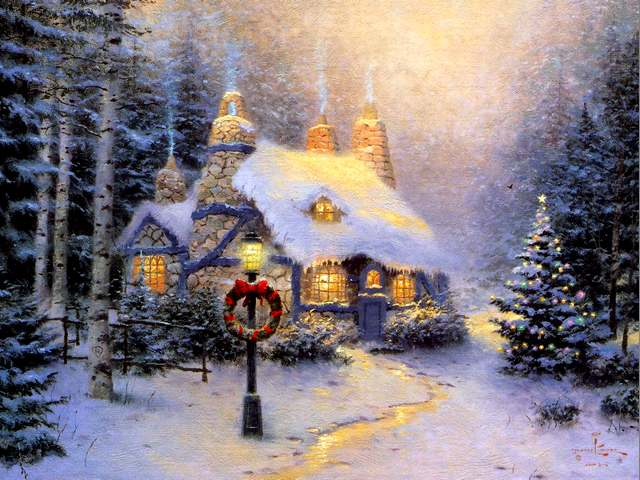 Christmas Painting Stonehearth Hutch by Thomas Kinkade - 'Stonehearth Hutch', a painting with Christmas theme by the world famous American artist Thomas Kinkade, with a cosy home, illuminated by festal lights. - , Christmas, stonehearth, hutch, hutches, painting, paintings, Thomas, Kinkade, art, arts, holidays, holiday, nature, natures, season, seasons, theme, themes, world, famous, American, artist, artists, cosy, home, homes, illuminated, festal, lights, light - 'Stonehearth Hutch', a painting with Christmas theme by the world famous American artist Thomas Kinkade, with a cosy home, illuminated by festal lights. Solve free online Christmas Painting Stonehearth Hutch by Thomas Kinkade puzzle games or send Christmas Painting Stonehearth Hutch by Thomas Kinkade puzzle game greeting ecards  from puzzles-games.eu.. Christmas Painting Stonehearth Hutch by Thomas Kinkade puzzle, puzzles, puzzles games, puzzles-games.eu, puzzle games, online puzzle games, free puzzle games, free online puzzle games, Christmas Painting Stonehearth Hutch by Thomas Kinkade free puzzle game, Christmas Painting Stonehearth Hutch by Thomas Kinkade online puzzle game, jigsaw puzzles, Christmas Painting Stonehearth Hutch by Thomas Kinkade jigsaw puzzle, jigsaw puzzle games, jigsaw puzzles games, Christmas Painting Stonehearth Hutch by Thomas Kinkade puzzle game ecard, puzzles games ecards, Christmas Painting Stonehearth Hutch by Thomas Kinkade puzzle game greeting ecard