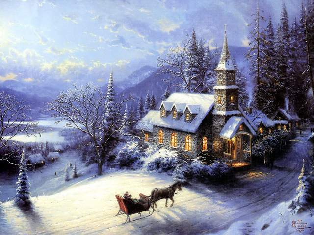 Christmas Painting Sunday Evening Sleigh Ride by Thomas Kinkade - 'Sunday Evening Sleigh Ride', a painting with Christmas theme by the world famous American artist Thomas Kinkade, which 'glows' by the marvellous play of the light with the shadows. - , Christmas, painting, paintings, sunday, evening, evenings, sleigh, sleighs, ride, Thomas, Kinkade, art, arts, holidays, holiday, nature, natures, season, seasons, theme, themes, world, famous, American, artist, artists, marvellous, play, light, lights, shadows, shadow - 'Sunday Evening Sleigh Ride', a painting with Christmas theme by the world famous American artist Thomas Kinkade, which 'glows' by the marvellous play of the light with the shadows. Solve free online Christmas Painting Sunday Evening Sleigh Ride by Thomas Kinkade puzzle games or send Christmas Painting Sunday Evening Sleigh Ride by Thomas Kinkade puzzle game greeting ecards  from puzzles-games.eu.. Christmas Painting Sunday Evening Sleigh Ride by Thomas Kinkade puzzle, puzzles, puzzles games, puzzles-games.eu, puzzle games, online puzzle games, free puzzle games, free online puzzle games, Christmas Painting Sunday Evening Sleigh Ride by Thomas Kinkade free puzzle game, Christmas Painting Sunday Evening Sleigh Ride by Thomas Kinkade online puzzle game, jigsaw puzzles, Christmas Painting Sunday Evening Sleigh Ride by Thomas Kinkade jigsaw puzzle, jigsaw puzzle games, jigsaw puzzles games, Christmas Painting Sunday Evening Sleigh Ride by Thomas Kinkade puzzle game ecard, puzzles games ecards, Christmas Painting Sunday Evening Sleigh Ride by Thomas Kinkade puzzle game greeting ecard