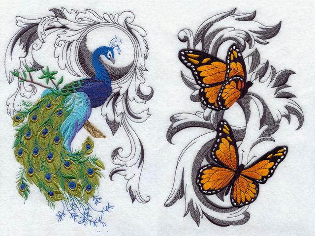 Easter Decoration Peacock and Monarch Butterflies Machine Embroidery - Charming machine embroidery with an elegant design of peacock with a photorealistic image of the beautiful colourfully contrasting tail feathers and richly coloured Monarch butterflies in flight, dancing  on an ornamental background. The butterfly is a classic symbol of the new life, born from a caterpillar, which 'dies' after that. These handmade works of art, used as an Easter's decoration, bring home beauty of spring and renewing of the nature, filled with hope, joy and warmth. - , peacock, peacocks, Monarch, butterflies, butterfly, machine, embroidery, art, arts, holiday, holidays, elegant, design, designs, photorealistic, image, images, beautiful, colourfully, tail, tails, feathers, feather, richly, coloured, flight, flights, ornamental, background, backgrounds, classic, symbol, symbols, new, life, caterpillar, caterpillars, handmade, works, work, home, homes, beauty, spring, renewing, nature, hope, joy, warmth - Charming machine embroidery with an elegant design of peacock with a photorealistic image of the beautiful colourfully contrasting tail feathers and richly coloured Monarch butterflies in flight, dancing  on an ornamental background. The butterfly is a classic symbol of the new life, born from a caterpillar, which 'dies' after that. These handmade works of art, used as an Easter's decoration, bring home beauty of spring and renewing of the nature, filled with hope, joy and warmth. Solve free online Easter Decoration Peacock and Monarch Butterflies Machine Embroidery puzzle games or send Easter Decoration Peacock and Monarch Butterflies Machine Embroidery puzzle game greeting ecards  from puzzles-games.eu.. Easter Decoration Peacock and Monarch Butterflies Machine Embroidery puzzle, puzzles, puzzles games, puzzles-games.eu, puzzle games, online puzzle games, free puzzle games, free online puzzle games, Easter Decoration Peacock and Monarch Butterflies Machine Embroidery free puzzle game, Easter Decoration Peacock and Monarch Butterflies Machine Embroidery online puzzle game, jigsaw puzzles, Easter Decoration Peacock and Monarch Butterflies Machine Embroidery jigsaw puzzle, jigsaw puzzle games, jigsaw puzzles games, Easter Decoration Peacock and Monarch Butterflies Machine Embroidery puzzle game ecard, puzzles games ecards, Easter Decoration Peacock and Monarch Butterflies Machine Embroidery puzzle game greeting ecard