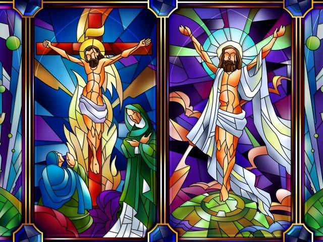 wallpaper jesus christ. Easter Jesus Christ Stained
