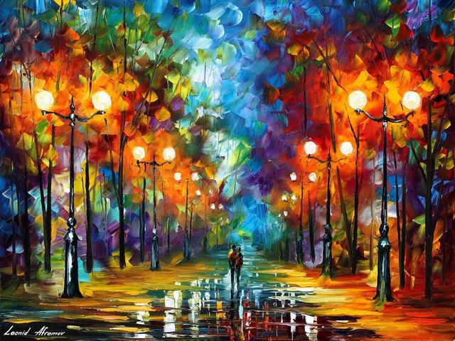 End of Winter Day by Leonid Afremov - 'End of Winter Day' is a gorgeous, emotional painting by the famous modern impressionist Leonid Afremov (1955-2019).<br /> Through a beautiful mixture of colors and a unique style of palette knife and oils, Leonid Afremov depicts a fascinate scene with a couple, taking a late night stroll in the park, in despite of the puddles and cold weather. The snow and the wet alleyway perfectly reflect the yellow glow coming from the lonely lanterns in the park. - , end, winter, day, days, Leonid, Afremov, art, arts, nature, natures, gorgeous, emotional, painting, paintings, famous, modern, impressionist, beautiful, mixture, colors, color, unique, style, styles, palette, knife, oils, oil, fascinate, scene, scenes, couple, night, stroll, park, parks, puddles, puddle, cold, weather, snow, wet, alleyway, alleyways, yellow, glow, lonely, lanterns, lantern - 'End of Winter Day' is a gorgeous, emotional painting by the famous modern impressionist Leonid Afremov (1955-2019).<br /> Through a beautiful mixture of colors and a unique style of palette knife and oils, Leonid Afremov depicts a fascinate scene with a couple, taking a late night stroll in the park, in despite of the puddles and cold weather. The snow and the wet alleyway perfectly reflect the yellow glow coming from the lonely lanterns in the park. Решайте бесплатные онлайн End of Winter Day by Leonid Afremov пазлы игры или отправьте End of Winter Day by Leonid Afremov пазл игру приветственную открытку  из puzzles-games.eu.. End of Winter Day by Leonid Afremov пазл, пазлы, пазлы игры, puzzles-games.eu, пазл игры, онлайн пазл игры, игры пазлы бесплатно, бесплатно онлайн пазл игры, End of Winter Day by Leonid Afremov бесплатно пазл игра, End of Winter Day by Leonid Afremov онлайн пазл игра , jigsaw puzzles, End of Winter Day by Leonid Afremov jigsaw puzzle, jigsaw puzzle games, jigsaw puzzles games, End of Winter Day by Leonid Afremov пазл игра открытка, пазлы игры открытки, End of Winter Day by Leonid Afremov пазл игра приветственная открытка