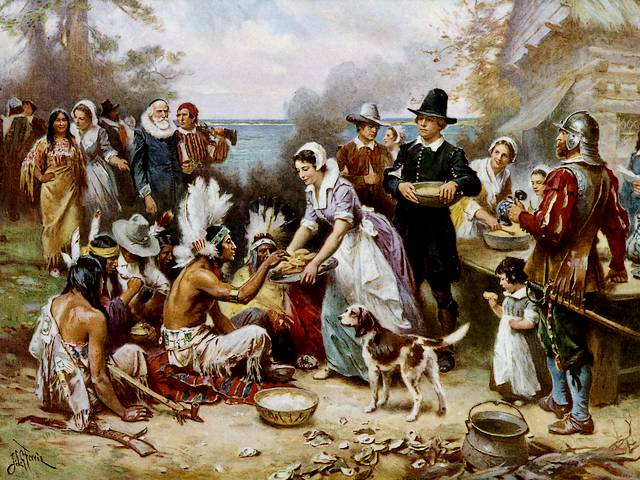 First Thanksgiving 1621 by Jean Leon Gerome Ferris - 'First Thanksgiving 1621' (ca 1915, oil on canvas, private collection), painting by Jean Leon Gerome Ferris (1863-1930), an American historical painter, best known for his series of scenes with famous moments from the American history. - , First, Thanksgiving, 1621, Jean, Leon, Gerome, Ferris, art, arts, holidays, holiday, feast, feasts, nature, natures, season, seasons, 1915, oil, canvas, canvases, private, collection, collections, painting, paintings, 1863, 1930, American, historical, painter, painters, series, serie, scenes, scene, famous, moments, moment, history, histories - 'First Thanksgiving 1621' (ca 1915, oil on canvas, private collection), painting by Jean Leon Gerome Ferris (1863-1930), an American historical painter, best known for his series of scenes with famous moments from the American history. Solve free online First Thanksgiving 1621 by Jean Leon Gerome Ferris puzzle games or send First Thanksgiving 1621 by Jean Leon Gerome Ferris puzzle game greeting ecards  from puzzles-games.eu.. First Thanksgiving 1621 by Jean Leon Gerome Ferris puzzle, puzzles, puzzles games, puzzles-games.eu, puzzle games, online puzzle games, free puzzle games, free online puzzle games, First Thanksgiving 1621 by Jean Leon Gerome Ferris free puzzle game, First Thanksgiving 1621 by Jean Leon Gerome Ferris online puzzle game, jigsaw puzzles, First Thanksgiving 1621 by Jean Leon Gerome Ferris jigsaw puzzle, jigsaw puzzle games, jigsaw puzzles games, First Thanksgiving 1621 by Jean Leon Gerome Ferris puzzle game ecard, puzzles games ecards, First Thanksgiving 1621 by Jean Leon Gerome Ferris puzzle game greeting ecard