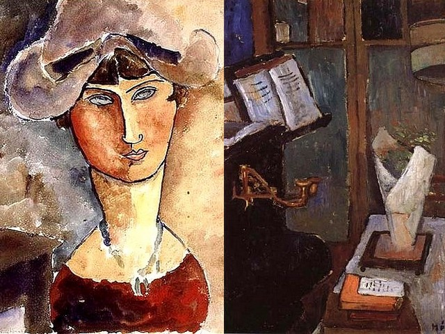 Jeanne Hebuterne Autoportrait and Nature Morte - 'Autoportrait' (1919, watercolour, Former collection of Jeanne Modigliani) and 'Nature Morte' ('Still-life', oil on cardboard, private collection), paintings by Jeanne Hebuterne, a French artist, nice and delicate friend and a favorite model in the last three years of Amedeo Modigliani's life. - , Jeanne, Hebuterne, Autoportrait, Nature, Morte, art, arts, painter, painters, artist, artists, sculptor, sculptors, Expressionist, Expressionists, 1919, watercolour, watercolours, Former, collection, collections, Modigliani, still-life, still-lifes, oil, cardboard, cardboards, private, collection, collections, paintings, painting, French, nice, delicate, friend, friends, favorite, model, models, last, three, years, year, Amedeo, life, lifes - 'Autoportrait' (1919, watercolour, Former collection of Jeanne Modigliani) and 'Nature Morte' ('Still-life', oil on cardboard, private collection), paintings by Jeanne Hebuterne, a French artist, nice and delicate friend and a favorite model in the last three years of Amedeo Modigliani's life. Solve free online Jeanne Hebuterne Autoportrait and Nature Morte puzzle games or send Jeanne Hebuterne Autoportrait and Nature Morte puzzle game greeting ecards  from puzzles-games.eu.. Jeanne Hebuterne Autoportrait and Nature Morte puzzle, puzzles, puzzles games, puzzles-games.eu, puzzle games, online puzzle games, free puzzle games, free online puzzle games, Jeanne Hebuterne Autoportrait and Nature Morte free puzzle game, Jeanne Hebuterne Autoportrait and Nature Morte online puzzle game, jigsaw puzzles, Jeanne Hebuterne Autoportrait and Nature Morte jigsaw puzzle, jigsaw puzzle games, jigsaw puzzles games, Jeanne Hebuterne Autoportrait and Nature Morte puzzle game ecard, puzzles games ecards, Jeanne Hebuterne Autoportrait and Nature Morte puzzle game greeting ecard