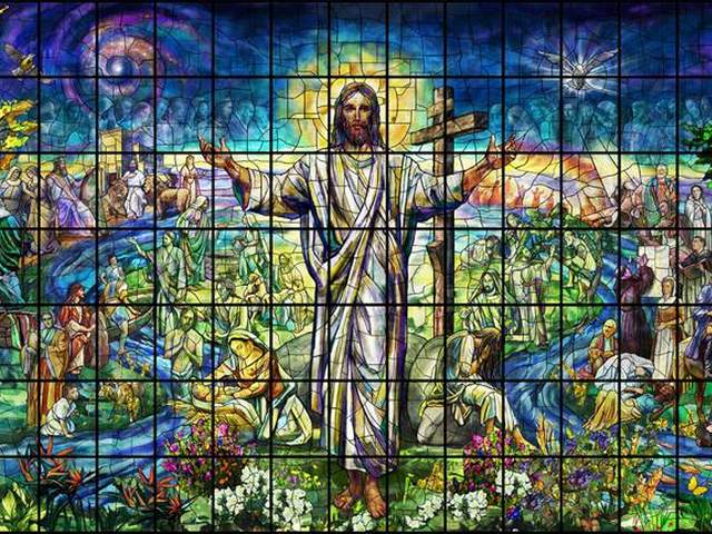 Largest Stained Glass Window Church of Resurrection Leawood Kansas - The Church of the Resurrection in Leawood, Kansas, will soon be unveiling a 100 foot wide and 40 foot high window, the world's largest stained glass window, created via fused glass by use of an innovation technique.<br /> The window's designer Tim Carey describes it as 'painting with glass' as opposed to the traditional method of painting on glass.<br /> The window, which depicts a series of Biblical stories surrounding a portrait of Jesus Christ, is a result of the collaboration between Judson Studios and artist Narcissus Quagliata, who is a pioneer in the use of fused glass in large-scale installations. - , largest, stained, glass, window, windows, church, resurrection, Leawood, Kansas, art, arts, foot, foots, wide, high, world, fused, innovation, technique, designer, Tim, Carey, painting, traditional, method, series, Biblical, stories, portrait, Jesus, Christ, result, collaboration, Judson, Studios, artist, artists, Narcissus, Quagliata, pioneer, scale, installations - The Church of the Resurrection in Leawood, Kansas, will soon be unveiling a 100 foot wide and 40 foot high window, the world's largest stained glass window, created via fused glass by use of an innovation technique.<br /> The window's designer Tim Carey describes it as 'painting with glass' as opposed to the traditional method of painting on glass.<br /> The window, which depicts a series of Biblical stories surrounding a portrait of Jesus Christ, is a result of the collaboration between Judson Studios and artist Narcissus Quagliata, who is a pioneer in the use of fused glass in large-scale installations. Solve free online Largest Stained Glass Window Church of Resurrection Leawood Kansas puzzle games or send Largest Stained Glass Window Church of Resurrection Leawood Kansas puzzle game greeting ecards  from puzzles-games.eu.. Largest Stained Glass Window Church of Resurrection Leawood Kansas puzzle, puzzles, puzzles games, puzzles-games.eu, puzzle games, online puzzle games, free puzzle games, free online puzzle games, Largest Stained Glass Window Church of Resurrection Leawood Kansas free puzzle game, Largest Stained Glass Window Church of Resurrection Leawood Kansas online puzzle game, jigsaw puzzles, Largest Stained Glass Window Church of Resurrection Leawood Kansas jigsaw puzzle, jigsaw puzzle games, jigsaw puzzles games, Largest Stained Glass Window Church of Resurrection Leawood Kansas puzzle game ecard, puzzles games ecards, Largest Stained Glass Window Church of Resurrection Leawood Kansas puzzle game greeting ecard