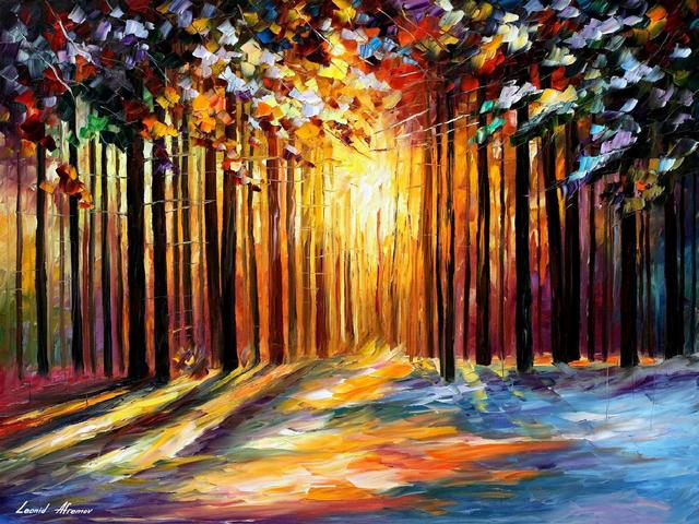 Morning Sun of January by Leonid Afremov - The amazing colors of the 'Morning Sun of January', make the painting by Leonid Afremov to seems like a plausible depicting of coniferous forest illuminated by the first rays of the morning sun. The sun rays shine through the thin straight trunks of the pines, fall on the pure snow,  painting it in yellow and orange colors, creating a fairy-tale emotions. - , morning, sun, January, by, Leonid, Afremov, art, arts, nature, natures, amazing, colors, color, painting, paintings, plausible, coniferous, forest, forests, rays, ray, morning, sun, trunks, trunk, pines, pine, snow, yellow, orange, fairy-tale, emotions, emotion - The amazing colors of the 'Morning Sun of January', make the painting by Leonid Afremov to seems like a plausible depicting of coniferous forest illuminated by the first rays of the morning sun. The sun rays shine through the thin straight trunks of the pines, fall on the pure snow,  painting it in yellow and orange colors, creating a fairy-tale emotions. Решайте бесплатные онлайн Morning Sun of January by Leonid Afremov пазлы игры или отправьте Morning Sun of January by Leonid Afremov пазл игру приветственную открытку  из puzzles-games.eu.. Morning Sun of January by Leonid Afremov пазл, пазлы, пазлы игры, puzzles-games.eu, пазл игры, онлайн пазл игры, игры пазлы бесплатно, бесплатно онлайн пазл игры, Morning Sun of January by Leonid Afremov бесплатно пазл игра, Morning Sun of January by Leonid Afremov онлайн пазл игра , jigsaw puzzles, Morning Sun of January by Leonid Afremov jigsaw puzzle, jigsaw puzzle games, jigsaw puzzles games, Morning Sun of January by Leonid Afremov пазл игра открытка, пазлы игры открытки, Morning Sun of January by Leonid Afremov пазл игра приветственная открытка