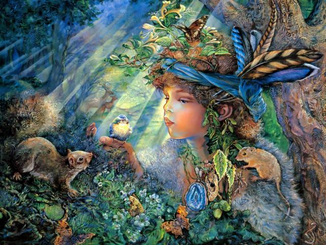 Nature Boy by Josephine Wall - 'Nature Boy' (painted circa 2000) is a magnificent painting by the famous English artist Josephine Wall, specialized in mystical, surreal-like, fantasy paintings, which fascinate with mesmerizing details and vibrant colours. This is a visual history from the beautiful world of wildlife, about a little boy, adorned with a collection of 'forest treasures', who together with his woodland friends, listens in rapture the song of the blue titmouse. - , nature, boy, boys, Josephine, Wall, art, arts, 2000, magnificent, painting, paintings, famous, English, artist, artists, mystical, surreal, fantasy, mesmerizing, details, detail, vibrant, colours, colour, visual, history, histories, beautiful, world, wildlife, little, collection, collections, forest, forests, treasures, treasure, woodland, friends, friend, rapture, song, songs, blue, titmouse, titmouses - 'Nature Boy' (painted circa 2000) is a magnificent painting by the famous English artist Josephine Wall, specialized in mystical, surreal-like, fantasy paintings, which fascinate with mesmerizing details and vibrant colours. This is a visual history from the beautiful world of wildlife, about a little boy, adorned with a collection of 'forest treasures', who together with his woodland friends, listens in rapture the song of the blue titmouse. Solve free online Nature Boy by Josephine Wall puzzle games or send Nature Boy by Josephine Wall puzzle game greeting ecards  from puzzles-games.eu.. Nature Boy by Josephine Wall puzzle, puzzles, puzzles games, puzzles-games.eu, puzzle games, online puzzle games, free puzzle games, free online puzzle games, Nature Boy by Josephine Wall free puzzle game, Nature Boy by Josephine Wall online puzzle game, jigsaw puzzles, Nature Boy by Josephine Wall jigsaw puzzle, jigsaw puzzle games, jigsaw puzzles games, Nature Boy by Josephine Wall puzzle game ecard, puzzles games ecards, Nature Boy by Josephine Wall puzzle game greeting ecard