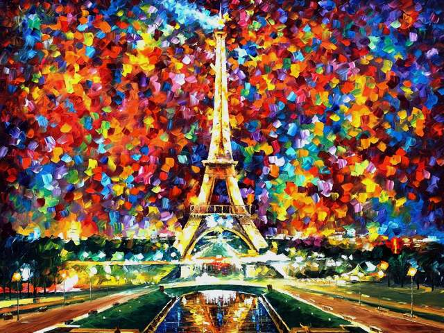 Paris of My Dreams by Leonid Afremov - 'Paris of My Dreams' is a beautiful painting (oil on canvas with palette knife) by the Russian-Israeli conterporary impressionist Leonid Afremov (1955-2019),  depicting the Eiffel Tower, a hallmark of Paris, included in the list of most visited attractions in the world. <br /> The Eiffel Tower in this painting can be compared with a bright candle, that illuminates the whole city. - , Paris, dreams, dream, Leonid, Afremov, art, arts, places, place, beautiful, painting, paintings, oil, canvas, palette, knife, Russian, Israeli, conterporary, impressionist, Eiffel, Tower, towers, hallmark, Paris, list, attractions, attraction, world, bright, candle, candles, city, cities - 'Paris of My Dreams' is a beautiful painting (oil on canvas with palette knife) by the Russian-Israeli conterporary impressionist Leonid Afremov (1955-2019),  depicting the Eiffel Tower, a hallmark of Paris, included in the list of most visited attractions in the world. <br /> The Eiffel Tower in this painting can be compared with a bright candle, that illuminates the whole city. Solve free online Paris of My Dreams by Leonid Afremov puzzle games or send Paris of My Dreams by Leonid Afremov puzzle game greeting ecards  from puzzles-games.eu.. Paris of My Dreams by Leonid Afremov puzzle, puzzles, puzzles games, puzzles-games.eu, puzzle games, online puzzle games, free puzzle games, free online puzzle games, Paris of My Dreams by Leonid Afremov free puzzle game, Paris of My Dreams by Leonid Afremov online puzzle game, jigsaw puzzles, Paris of My Dreams by Leonid Afremov jigsaw puzzle, jigsaw puzzle games, jigsaw puzzles games, Paris of My Dreams by Leonid Afremov puzzle game ecard, puzzles games ecards, Paris of My Dreams by Leonid Afremov puzzle game greeting ecard