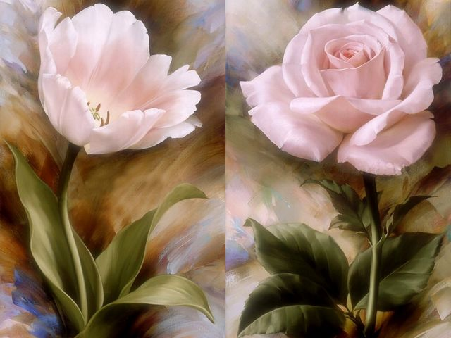 Pink Tulip and Rose by Igor Levashov - Beauty in pink, tulip and rose, painted by Igor Levashov, who has managed to capture the soft romance and true essence of these flowers. Igor Levashov is an artist, born in Russia, who has studied in the world-famed Sourykoff Institute in Moscow and at the Royal Academy of Modern Art in the Hague, the Netherlands. - , pink, tulip, tulips, rose, roses, Igor, Levashov, art, arts, flower, flowers, beauty, beauties, soft, romance, romances, true, essence, essences, artist, artists, Russia, world, famed, Sourykoff, Institute, institutes, Moscow, Royal, Academy, academies, Modern, Hague, Netherlands - Beauty in pink, tulip and rose, painted by Igor Levashov, who has managed to capture the soft romance and true essence of these flowers. Igor Levashov is an artist, born in Russia, who has studied in the world-famed Sourykoff Institute in Moscow and at the Royal Academy of Modern Art in the Hague, the Netherlands. Solve free online Pink Tulip and Rose by Igor Levashov puzzle games or send Pink Tulip and Rose by Igor Levashov puzzle game greeting ecards  from puzzles-games.eu.. Pink Tulip and Rose by Igor Levashov puzzle, puzzles, puzzles games, puzzles-games.eu, puzzle games, online puzzle games, free puzzle games, free online puzzle games, Pink Tulip and Rose by Igor Levashov free puzzle game, Pink Tulip and Rose by Igor Levashov online puzzle game, jigsaw puzzles, Pink Tulip and Rose by Igor Levashov jigsaw puzzle, jigsaw puzzle games, jigsaw puzzles games, Pink Tulip and Rose by Igor Levashov puzzle game ecard, puzzles games ecards, Pink Tulip and Rose by Igor Levashov puzzle game greeting ecard