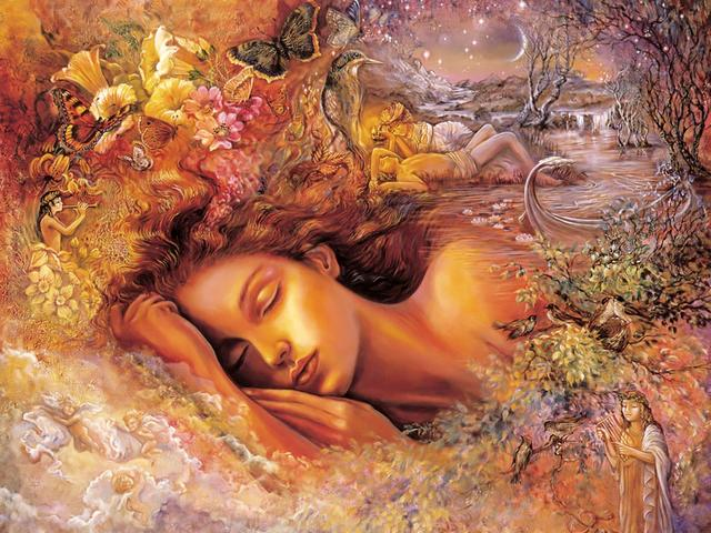 Psyches Dream by Josephine Wall - In the fantastic painting 'Psyche's Dream', Josephine Wall creates an amazing and fascinating world, obsessed of joy and a magic warmth. In her dream, Psyche, the most beautiful of mortals, who has found the true love forever in the face of her beloved Eros, floats downstream the river of life. - , Psyche's, Psyche, dream, dreams, Josephine, Wall, art, arts, fantastic, painting, paintings, amazing, fascinating, world, joy, magic, warmth, beautiful, mortals, mortal, true, love, forever, face, faces, beloved, Eros, downstream, river, rivers, life - In the fantastic painting 'Psyche's Dream', Josephine Wall creates an amazing and fascinating world, obsessed of joy and a magic warmth. In her dream, Psyche, the most beautiful of mortals, who has found the true love forever in the face of her beloved Eros, floats downstream the river of life. Solve free online Psyches Dream by Josephine Wall puzzle games or send Psyches Dream by Josephine Wall puzzle game greeting ecards  from puzzles-games.eu.. Psyches Dream by Josephine Wall puzzle, puzzles, puzzles games, puzzles-games.eu, puzzle games, online puzzle games, free puzzle games, free online puzzle games, Psyches Dream by Josephine Wall free puzzle game, Psyches Dream by Josephine Wall online puzzle game, jigsaw puzzles, Psyches Dream by Josephine Wall jigsaw puzzle, jigsaw puzzle games, jigsaw puzzles games, Psyches Dream by Josephine Wall puzzle game ecard, puzzles games ecards, Psyches Dream by Josephine Wall puzzle game greeting ecard