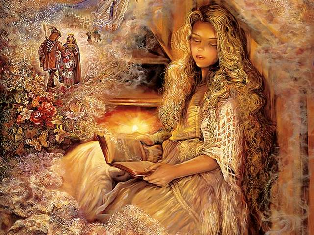 Stairway of Dreams by Josephine Wall - 'Stairway of Dreams' by Josephine Wall, is a captivating painting, where the English fantasy artist combines with a remarkable vividness detailed descriptions of wonderful stories and magical dreams.<br /> Sitting in her favorite place of the stairs, lit by the warm glow of a candle, a young girl is drifting off to sleep and sinks into the mysterious world of the subconscious and imagination with countless images and heroes from hers storybook. While the clouds of dreams come alive, the blond hair that descends on the back of the girl and the complicated details of the nightgown look so real. - , stairway, stairways, dreams, dream, Josephine, Wall, art, arts, captivating, painting, paintings, English, fantasy, artist, artists, remarkable, vividness, detailed, descriptions, description, wonderful, stories, story, magical, favorite, place, places, stairs, stair, warm, glow, candle, candles, young, girl, girls, sleep, sleeps, mysterious, world, worlds, subconscious, imagination, countless, images, image, heroes, hero, storybook, storybooks, clouds, cloud, alive, blond, hair, back, complicated, details, detail, nightgown, nightgowns, real - 'Stairway of Dreams' by Josephine Wall, is a captivating painting, where the English fantasy artist combines with a remarkable vividness detailed descriptions of wonderful stories and magical dreams.<br /> Sitting in her favorite place of the stairs, lit by the warm glow of a candle, a young girl is drifting off to sleep and sinks into the mysterious world of the subconscious and imagination with countless images and heroes from hers storybook. While the clouds of dreams come alive, the blond hair that descends on the back of the girl and the complicated details of the nightgown look so real. Solve free online Stairway of Dreams by Josephine Wall puzzle games or send Stairway of Dreams by Josephine Wall puzzle game greeting ecards  from puzzles-games.eu.. Stairway of Dreams by Josephine Wall puzzle, puzzles, puzzles games, puzzles-games.eu, puzzle games, online puzzle games, free puzzle games, free online puzzle games, Stairway of Dreams by Josephine Wall free puzzle game, Stairway of Dreams by Josephine Wall online puzzle game, jigsaw puzzles, Stairway of Dreams by Josephine Wall jigsaw puzzle, jigsaw puzzle games, jigsaw puzzles games, Stairway of Dreams by Josephine Wall puzzle game ecard, puzzles games ecards, Stairway of Dreams by Josephine Wall puzzle game greeting ecard