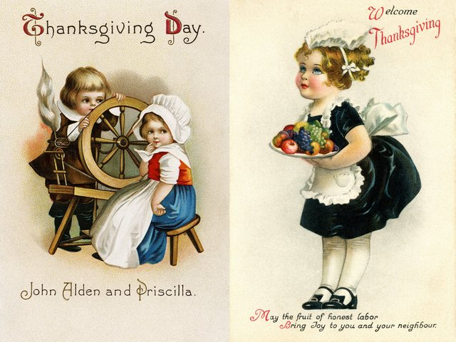 Thanksgiving Greetings Vintage Postcards by Ellen Clapsaddle - Beautiful vintage postcards with greetings for Thanksgiving day, drawn by Ellen Clapsaddle. The first is an adorable portrait of John Alden and Priscilla (Mullins) as children, sitting behind a wheel for spinning. The second image of a charming girl, dressed as a waiter offering fruits, was painted circa 1910. Ellen Hattie Clapsaddle (January 8, 1865 - January 7, 1934), the American illustrator and artist from the late 19th and early 20th centuries, is well known for her souvenirs and greeting cards made in an admirable style of her era. - , Thanksgiving, greetings, greeting, vintage, postcards, postcard, Ellen, Clapsaddle, art, arts, cartoon, cartoons, holiday, holidays, feast, feasts, beautiful, day, days, adorable, portrait, portraits, John, Alden, Priscilla, Mullins, children, child, wheel, wheels, spinning, image, images, charming, girl, girls, waiter, waiters, fruits, fruit, 1910, Hattie, January, 1865, 1934, American, illustrator, illustrators, artist, artists, late, 19th, early, 20th, centuries, century, souvenirs, souvenir, admirable, style, styles, era - Beautiful vintage postcards with greetings for Thanksgiving day, drawn by Ellen Clapsaddle. The first is an adorable portrait of John Alden and Priscilla (Mullins) as children, sitting behind a wheel for spinning. The second image of a charming girl, dressed as a waiter offering fruits, was painted circa 1910. Ellen Hattie Clapsaddle (January 8, 1865 - January 7, 1934), the American illustrator and artist from the late 19th and early 20th centuries, is well known for her souvenirs and greeting cards made in an admirable style of her era. Solve free online Thanksgiving Greetings Vintage Postcards by Ellen Clapsaddle puzzle games or send Thanksgiving Greetings Vintage Postcards by Ellen Clapsaddle puzzle game greeting ecards  from puzzles-games.eu.. Thanksgiving Greetings Vintage Postcards by Ellen Clapsaddle puzzle, puzzles, puzzles games, puzzles-games.eu, puzzle games, online puzzle games, free puzzle games, free online puzzle games, Thanksgiving Greetings Vintage Postcards by Ellen Clapsaddle free puzzle game, Thanksgiving Greetings Vintage Postcards by Ellen Clapsaddle online puzzle game, jigsaw puzzles, Thanksgiving Greetings Vintage Postcards by Ellen Clapsaddle jigsaw puzzle, jigsaw puzzle games, jigsaw puzzles games, Thanksgiving Greetings Vintage Postcards by Ellen Clapsaddle puzzle game ecard, puzzles games ecards, Thanksgiving Greetings Vintage Postcards by Ellen Clapsaddle puzzle game greeting ecard