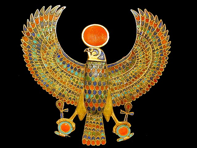 Tutankhamun Falcon Pectoral Museum of Antiquities in Cairo Egypt - Pectoral adornment, which was discovered by Howard Carter in 1922 at the tomb of the Egyptian pharaoh Tutankhamun, in shape of a falcon, on display at the Museum of Antiquities in Cairo, Egypt. In the ancient Egipt, falcons have been a symbol of the Sun-god, due to the habit to fly high in the air, such as the sun rises in the sky every day. For the inlay have been used lapis lazuli, turquoise, carnelian, light blue glass and obsidian for the eye. - , Tutankhamun, falcon, falcons, pectoral, pectorals, museum, museums, antiquities, antiquity, Cairo, Egypt, art, arts, places, place, travel, travels, trip, trips, tour, tours, Howard, Carter, 1922, tomb, tombs, Egyptian, pharaoh, pharaohs, shape, shapes, display, displays, ancient, symbol, symbols, sun, suns, god, gods, habit, habits, air, airs, sky, skies, every, day, days, inlay, inlays, lapis, lazuli, turquoise, carnelian, light, blue, glass, glasses, obsidian, eye, eyes - Pectoral adornment, which was discovered by Howard Carter in 1922 at the tomb of the Egyptian pharaoh Tutankhamun, in shape of a falcon, on display at the Museum of Antiquities in Cairo, Egypt. In the ancient Egipt, falcons have been a symbol of the Sun-god, due to the habit to fly high in the air, such as the sun rises in the sky every day. For the inlay have been used lapis lazuli, turquoise, carnelian, light blue glass and obsidian for the eye. Solve free online Tutankhamun Falcon Pectoral Museum of Antiquities in Cairo Egypt puzzle games or send Tutankhamun Falcon Pectoral Museum of Antiquities in Cairo Egypt puzzle game greeting ecards  from puzzles-games.eu.. Tutankhamun Falcon Pectoral Museum of Antiquities in Cairo Egypt puzzle, puzzles, puzzles games, puzzles-games.eu, puzzle games, online puzzle games, free puzzle games, free online puzzle games, Tutankhamun Falcon Pectoral Museum of Antiquities in Cairo Egypt free puzzle game, Tutankhamun Falcon Pectoral Museum of Antiquities in Cairo Egypt online puzzle game, jigsaw puzzles, Tutankhamun Falcon Pectoral Museum of Antiquities in Cairo Egypt jigsaw puzzle, jigsaw puzzle games, jigsaw puzzles games, Tutankhamun Falcon Pectoral Museum of Antiquities in Cairo Egypt puzzle game ecard, puzzles games ecards, Tutankhamun Falcon Pectoral Museum of Antiquities in Cairo Egypt puzzle game greeting ecard