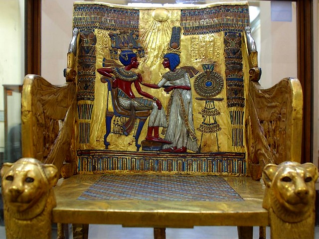 Tutankhamun Golden Throne Museum of Antiquities in Cairo Egypt - A golden throne of the Egyptian pharaoh Tutankhamun (1343 BC-1325 BC), a boy pharaoh, also known as King Tut, who becomes a Pharaoh in 1334 BC, when he has been 9 years old, at Museum of Egyptian Antiquities in Cairo, discovered in 1922 by Howard Carter (1874-1939), an English archaeologist and egyptologist, in a tomb at Thebes in the Valley of the Kings, Luxor, Egypt. - , Tutankhamun, golden, throne, thrones, museum, museums, antiquities, antiquity, Cairo, Egypt, art, arts, places, place, travel, travels, trip, trips, tour, tours, Egyptian, pharaoh, pharaohs, 1343, 1325, BC, boy, boys, King, Tut, 1334, BC, years, year, 1922, Howard, Carter, 1874, 1939, English, archaeologist, archaeologists, egyptologist, egyptologists, tomb, tombs, Thebes, valley, valleys, kings, king, Luxor - A golden throne of the Egyptian pharaoh Tutankhamun (1343 BC-1325 BC), a boy pharaoh, also known as King Tut, who becomes a Pharaoh in 1334 BC, when he has been 9 years old, at Museum of Egyptian Antiquities in Cairo, discovered in 1922 by Howard Carter (1874-1939), an English archaeologist and egyptologist, in a tomb at Thebes in the Valley of the Kings, Luxor, Egypt. Solve free online Tutankhamun Golden Throne Museum of Antiquities in Cairo Egypt puzzle games or send Tutankhamun Golden Throne Museum of Antiquities in Cairo Egypt puzzle game greeting ecards  from puzzles-games.eu.. Tutankhamun Golden Throne Museum of Antiquities in Cairo Egypt puzzle, puzzles, puzzles games, puzzles-games.eu, puzzle games, online puzzle games, free puzzle games, free online puzzle games, Tutankhamun Golden Throne Museum of Antiquities in Cairo Egypt free puzzle game, Tutankhamun Golden Throne Museum of Antiquities in Cairo Egypt online puzzle game, jigsaw puzzles, Tutankhamun Golden Throne Museum of Antiquities in Cairo Egypt jigsaw puzzle, jigsaw puzzle games, jigsaw puzzles games, Tutankhamun Golden Throne Museum of Antiquities in Cairo Egypt puzzle game ecard, puzzles games ecards, Tutankhamun Golden Throne Museum of Antiquities in Cairo Egypt puzzle game greeting ecard