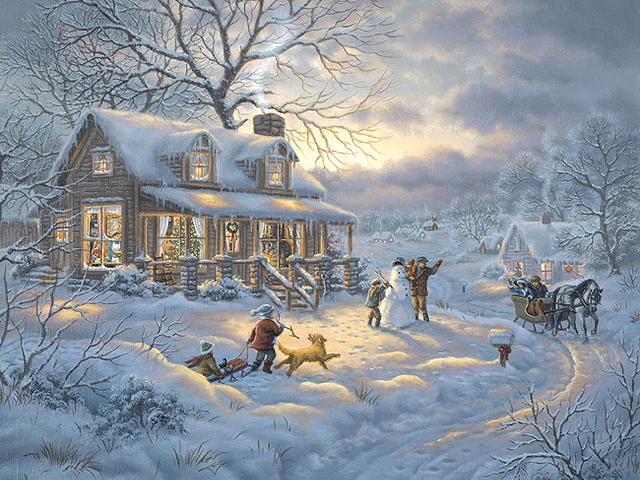 Winter Joy by Judy Gibson - Beautiful scene of 'Winter Joy' , painted by the talented artist Judy Gibson, born in Paris, Texas in 1946, with an art degree from East Texas State University. Judy Gibson enjoyed a very successful career with her original paintings on diverse themes, from landscapes to exquisitely detailed paintings of wildlife, painted with oils, watercolors and colored pencils. Many manufacturers are using her beautiful artworks on different products for a home decor. - , winter, joy, Judy, Gibson, art, arts, holiday, holidays, season, seasons, beautiful, scene, scenes, talented, artist, artists, Paris, Texas, 1946, degree, East, State, University, universities, successful, career, careers, original, paintings, painting, diverse, themes, theme, landscapes, landscape, exquisitely, wildlife, oils, watercolors, watercolor, colored, pencils, pencil, manufacturers, manufacturer, artworks, artwork, products, product, home, homes, decor, decors - Beautiful scene of 'Winter Joy' , painted by the talented artist Judy Gibson, born in Paris, Texas in 1946, with an art degree from East Texas State University. Judy Gibson enjoyed a very successful career with her original paintings on diverse themes, from landscapes to exquisitely detailed paintings of wildlife, painted with oils, watercolors and colored pencils. Many manufacturers are using her beautiful artworks on different products for a home decor. Solve free online Winter Joy by Judy Gibson puzzle games or send Winter Joy by Judy Gibson puzzle game greeting ecards  from puzzles-games.eu.. Winter Joy by Judy Gibson puzzle, puzzles, puzzles games, puzzles-games.eu, puzzle games, online puzzle games, free puzzle games, free online puzzle games, Winter Joy by Judy Gibson free puzzle game, Winter Joy by Judy Gibson online puzzle game, jigsaw puzzles, Winter Joy by Judy Gibson jigsaw puzzle, jigsaw puzzle games, jigsaw puzzles games, Winter Joy by Judy Gibson puzzle game ecard, puzzles games ecards, Winter Joy by Judy Gibson puzzle game greeting ecard