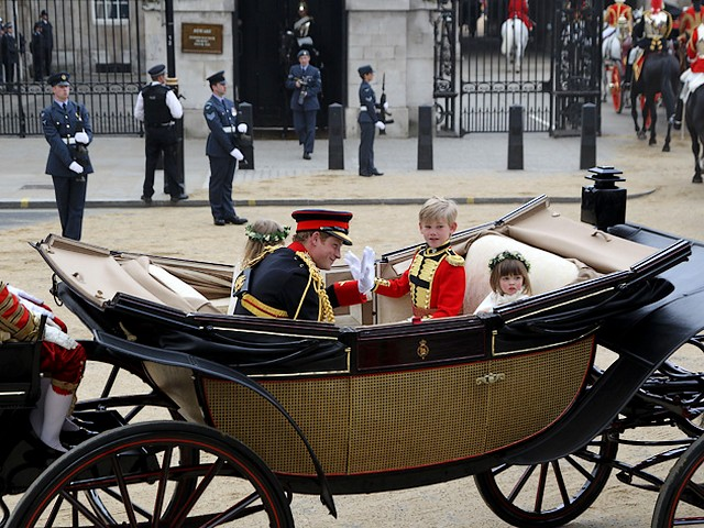 Royal Wedding England Prince Harry with  Master Tom Pettifer, Eliza Lopes and Lady Louise Windsor ride to Buckingham Palace in London - Prince Harry with page boy, Master Tom Pettifer and bridesmaids Eliza Lopes and Lady Louise Mountbatten-Windsor, ride in a carriage along the Processional Route, to Buckingham Palace in London, England, after ceremony of the royal wedding of Prince William and Catherine, Duchess of Cambridge, on April 29, 2011. - , Royal, wedding, weddings, England, prince, princes, Harry, Master, Tom, Pettifer, Eliza, Lopes, Lady, Louise, Windsor, Buckingham, palace, palaces, London, celebrities, celebrity, show, shows, ceremony, ceremonies, event, events, entertainment, entertainments, place, places, travel, travels, tour, tours, page, boy, boys, bridesmaid, bridesmaids, Mountbatten, carriage, carriages, Processional, Route, routes, William, Catherine, duchess, duchesses, Cambridge, April, 2011 - Prince Harry with page boy, Master Tom Pettifer and bridesmaids Eliza Lopes and Lady Louise Mountbatten-Windsor, ride in a carriage along the Processional Route, to Buckingham Palace in London, England, after ceremony of the royal wedding of Prince William and Catherine, Duchess of Cambridge, on April 29, 2011. Solve free online Royal Wedding England Prince Harry with  Master Tom Pettifer, Eliza Lopes and Lady Louise Windsor ride to Buckingham Palace in London puzzle games or send Royal Wedding England Prince Harry with  Master Tom Pettifer, Eliza Lopes and Lady Louise Windsor ride to Buckingham Palace in London puzzle game greeting ecards  from puzzles-games.eu.. Royal Wedding England Prince Harry with  Master Tom Pettifer, Eliza Lopes and Lady Louise Windsor ride to Buckingham Palace in London puzzle, puzzles, puzzles games, puzzles-games.eu, puzzle games, online puzzle games, free puzzle games, free online puzzle games, Royal Wedding England Prince Harry with  Master Tom Pettifer, Eliza Lopes and Lady Louise Windsor ride to Buckingham Palace in London free puzzle game, Royal Wedding England Prince Harry with  Master Tom Pettifer, Eliza Lopes and Lady Louise Windsor ride to Buckingham Palace in London online puzzle game, jigsaw puzzles, Royal Wedding England Prince Harry with  Master Tom Pettifer, Eliza Lopes and Lady Louise Windsor ride to Buckingham Palace in London jigsaw puzzle, jigsaw puzzle games, jigsaw puzzles games, Royal Wedding England Prince Harry with  Master Tom Pettifer, Eliza Lopes and Lady Louise Windsor ride to Buckingham Palace in London puzzle game ecard, puzzles games ecards, Royal Wedding England Prince Harry with  Master Tom Pettifer, Eliza Lopes and Lady Louise Windsor ride to Buckingham Palace in London puzzle game greeting ecard