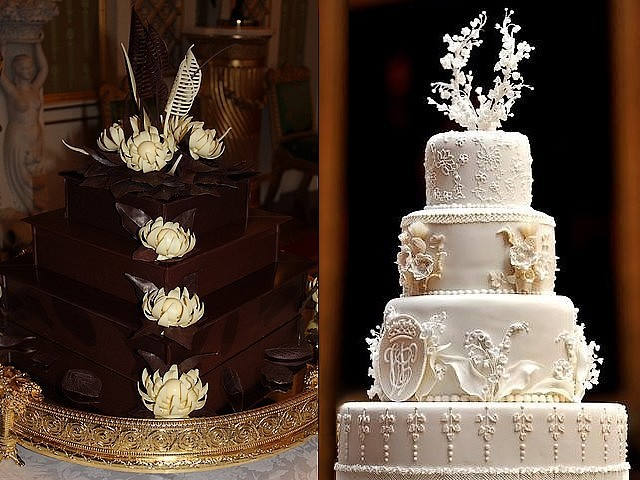 Royal Wedding Close Up Of Cakes For Reception In Buckingham Palace London England