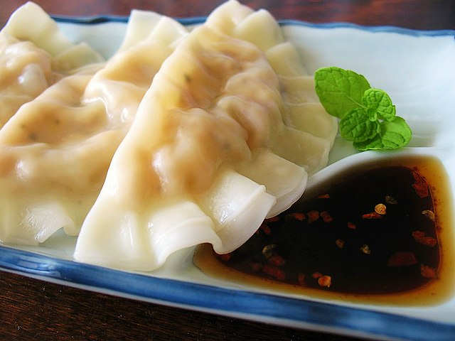 Vegetarian Japanese Dumplings - Vegetarian freshly steamed Japanese dumplings (Gyoza) with mushrooms and tofu, served with soy-based tare sauce seasoned with rice vinegar, chili oil and shredded ginger. - , vegetarian, Japanes, dumplings, dumpling, food, foods, holiday, holidays, feast, feasts, party, parties, festivity, festivities, celebration, celebrations, seasons, season, freshly, steamed, Gyoza, mushrooms, mushroom, tofu, soy, tare, sauce, sauces, seasoned, rice, vinegar, vinegars, chili, oil, oils, shredded, ginger - Vegetarian freshly steamed Japanese dumplings (Gyoza) with mushrooms and tofu, served with soy-based tare sauce seasoned with rice vinegar, chili oil and shredded ginger. Solve free online Vegetarian Japanese Dumplings puzzle games or send Vegetarian Japanese Dumplings puzzle game greeting ecards  from puzzles-games.eu.. Vegetarian Japanese Dumplings puzzle, puzzles, puzzles games, puzzles-games.eu, puzzle games, online puzzle games, free puzzle games, free online puzzle games, Vegetarian Japanese Dumplings free puzzle game, Vegetarian Japanese Dumplings online puzzle game, jigsaw puzzles, Vegetarian Japanese Dumplings jigsaw puzzle, jigsaw puzzle games, jigsaw puzzles games, Vegetarian Japanese Dumplings puzzle game ecard, puzzles games ecards, Vegetarian Japanese Dumplings puzzle game greeting ecard
