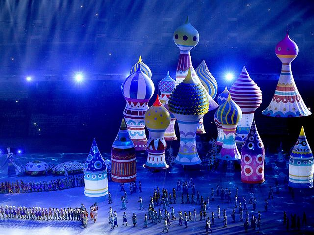 2014 Winter Olympics Opening Ceremony Sochi Russia Helium Domes - Large helium inflatables domes which create the elements of St. Basil's Cathedral, rise above the the Fisht Olympic Stadium during the Opening Ceremony of the 2014 Winter Olympics in Sochi, Russia, on February 7, 2014. - , 2014, Winter, Olympics, Opening, Ceremony, Sochi, Russia, helium, domes, dome, show, shows, sport, sports, large, inflatables, elements, element, St.Basil, St., Basil, cathedral, cathedrals, Fisht, Olympic, stadium, stadiums, February - Large helium inflatables domes which create the elements of St. Basil's Cathedral, rise above the the Fisht Olympic Stadium during the Opening Ceremony of the 2014 Winter Olympics in Sochi, Russia, on February 7, 2014. Solve free online 2014 Winter Olympics Opening Ceremony Sochi Russia Helium Domes puzzle games or send 2014 Winter Olympics Opening Ceremony Sochi Russia Helium Domes puzzle game greeting ecards  from puzzles-games.eu.. 2014 Winter Olympics Opening Ceremony Sochi Russia Helium Domes puzzle, puzzles, puzzles games, puzzles-games.eu, puzzle games, online puzzle games, free puzzle games, free online puzzle games, 2014 Winter Olympics Opening Ceremony Sochi Russia Helium Domes free puzzle game, 2014 Winter Olympics Opening Ceremony Sochi Russia Helium Domes online puzzle game, jigsaw puzzles, 2014 Winter Olympics Opening Ceremony Sochi Russia Helium Domes jigsaw puzzle, jigsaw puzzle games, jigsaw puzzles games, 2014 Winter Olympics Opening Ceremony Sochi Russia Helium Domes puzzle game ecard, puzzles games ecards, 2014 Winter Olympics Opening Ceremony Sochi Russia Helium Domes puzzle game greeting ecard