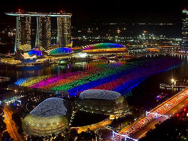 Rainbow Lights on Marina Bay Singapore - Spectacular lights with colours of a rainbow on Marina Bay near the central area in Singapore, during celebrations in the New Year's Eve on December 31, 2010. - , rainbow, rainbows, lights, on, Marina, Bay, bays, Singapore, show, shows, holidays, holiday, festival, festivals, celebrations, celebration, travel, travels, tour, tours, entertainment, entertainments, spectacular, colours, colour, central, area, areas, New, Year, eve, December, 2010 - Spectacular lights with colours of a rainbow on Marina Bay near the central area in Singapore, during celebrations in the New Year's Eve on December 31, 2010. Solve free online Rainbow Lights on Marina Bay Singapore puzzle games or send Rainbow Lights on Marina Bay Singapore puzzle game greeting ecards  from puzzles-games.eu.. Rainbow Lights on Marina Bay Singapore puzzle, puzzles, puzzles games, puzzles-games.eu, puzzle games, online puzzle games, free puzzle games, free online puzzle games, Rainbow Lights on Marina Bay Singapore free puzzle game, Rainbow Lights on Marina Bay Singapore online puzzle game, jigsaw puzzles, Rainbow Lights on Marina Bay Singapore jigsaw puzzle, jigsaw puzzle games, jigsaw puzzles games, Rainbow Lights on Marina Bay Singapore puzzle game ecard, puzzles games ecards, Rainbow Lights on Marina Bay Singapore puzzle game greeting ecard