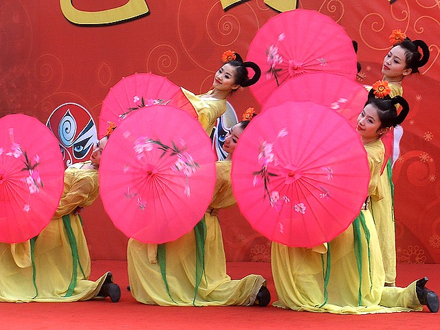 Spring Festival Chinese Umbrellas Dance at Ditan Park Beijing China - Chinese traditional dance 'Umbrellas' on stage at Ditan Park in Beijing, during celebrations of the Spring Festival in China. - , spring, festival, festivals, Chinese, umbrellas, umbrella, dance, dances, Ditan, park, parks, Beijing, China, show, shows, holidays, holiday, celebrations, celebration, places, place, travel, travels, tour, tours, trips, trip, excursion, excursions, traditional, stage, stages - Chinese traditional dance 'Umbrellas' on stage at Ditan Park in Beijing, during celebrations of the Spring Festival in China. Solve free online Spring Festival Chinese Umbrellas Dance at Ditan Park Beijing China puzzle games or send Spring Festival Chinese Umbrellas Dance at Ditan Park Beijing China puzzle game greeting ecards  from puzzles-games.eu.. Spring Festival Chinese Umbrellas Dance at Ditan Park Beijing China puzzle, puzzles, puzzles games, puzzles-games.eu, puzzle games, online puzzle games, free puzzle games, free online puzzle games, Spring Festival Chinese Umbrellas Dance at Ditan Park Beijing China free puzzle game, Spring Festival Chinese Umbrellas Dance at Ditan Park Beijing China online puzzle game, jigsaw puzzles, Spring Festival Chinese Umbrellas Dance at Ditan Park Beijing China jigsaw puzzle, jigsaw puzzle games, jigsaw puzzles games, Spring Festival Chinese Umbrellas Dance at Ditan Park Beijing China puzzle game ecard, puzzles games ecards, Spring Festival Chinese Umbrellas Dance at Ditan Park Beijing China puzzle game greeting ecard
