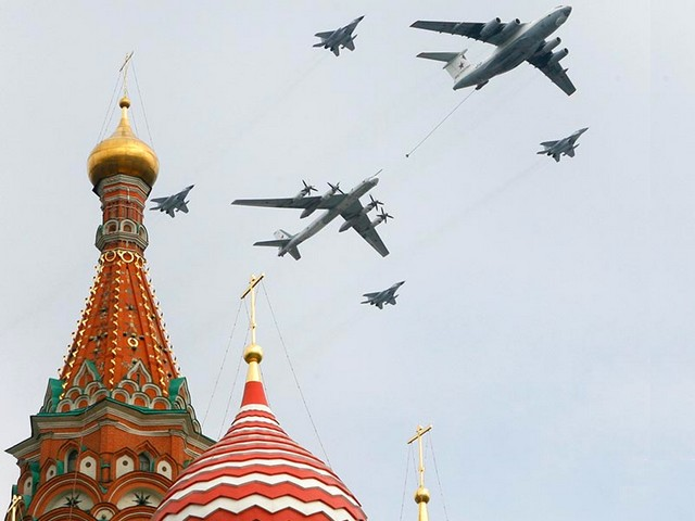 Victory Day in Moscow the Russian Military Aircraft - An IL-78 Midas military transporter, a SU-24 Fencer frontline bomber and Yak-130 trainers of the Russian military aircraft fly above the Red Square during the Victory Day parade in Moscow (May 9, 2010). - , Victory, Day, Moscow, Russian, military, aircraft, aircrafts, show, shows, place, places, performance, performances, parade, parades, transporter, transporters, SU-24, Fencer, frontline, bomber, bombers, IL-78, Yak-130, trainers, trainer, Red, Square, squares, May, 2010 - An IL-78 Midas military transporter, a SU-24 Fencer frontline bomber and Yak-130 trainers of the Russian military aircraft fly above the Red Square during the Victory Day parade in Moscow (May 9, 2010). Solve free online Victory Day in Moscow the Russian Military Aircraft puzzle games or send Victory Day in Moscow the Russian Military Aircraft puzzle game greeting ecards  from puzzles-games.eu.. Victory Day in Moscow the Russian Military Aircraft puzzle, puzzles, puzzles games, puzzles-games.eu, puzzle games, online puzzle games, free puzzle games, free online puzzle games, Victory Day in Moscow the Russian Military Aircraft free puzzle game, Victory Day in Moscow the Russian Military Aircraft online puzzle game, jigsaw puzzles, Victory Day in Moscow the Russian Military Aircraft jigsaw puzzle, jigsaw puzzle games, jigsaw puzzles games, Victory Day in Moscow the Russian Military Aircraft puzzle game ecard, puzzles games ecards, Victory Day in Moscow the Russian Military Aircraft puzzle game greeting ecard