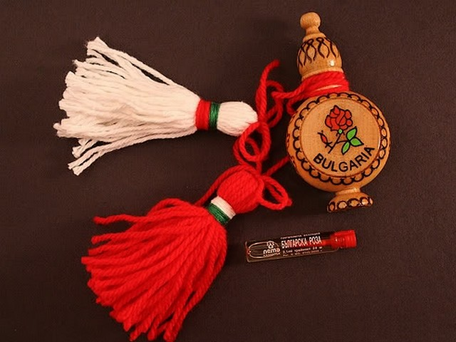 Bulgarian Martenitsa and Rose Oil Souvenir - Traditional Bulgarian martenitsa, a decoration from the folk art, made of red and white threads and carved wooden souvenir for a vial with Bulgarian rose oil. The 'Martenitsa' is related to the Bulgarian custom 'Baba Marta' (Grandma March) and symbolises the end of the winter and the beginning of the spring. Bulgarians give each other 'Martenitsa' on the first day of March with the belief that it brings good luck and health. - , Bulgarian, martenitsa, martenitsi, rose, roses, oil, oils, souvenir, souvenirs, holiday, holidays, art, arts, feast, feasts, traditional, decoration, decorations, folk, red, white, threads, thread, carved, wooden, vial, vials, custom, customs, Baba, Marta, Grandma, March, end, ends, winter, beginning, spring, Bulgarians, first, day, days, belief, beliefs, good, luck, health - Traditional Bulgarian martenitsa, a decoration from the folk art, made of red and white threads and carved wooden souvenir for a vial with Bulgarian rose oil. The 'Martenitsa' is related to the Bulgarian custom 'Baba Marta' (Grandma March) and symbolises the end of the winter and the beginning of the spring. Bulgarians give each other 'Martenitsa' on the first day of March with the belief that it brings good luck and health. Подреждайте безплатни онлайн Bulgarian Martenitsa and Rose Oil Souvenir пъзел игри или изпратете Bulgarian Martenitsa and Rose Oil Souvenir пъзел игра поздравителна картичка  от puzzles-games.eu.. Bulgarian Martenitsa and Rose Oil Souvenir пъзел, пъзели, пъзели игри, puzzles-games.eu, пъзел игри, online пъзел игри, free пъзел игри, free online пъзел игри, Bulgarian Martenitsa and Rose Oil Souvenir free пъзел игра, Bulgarian Martenitsa and Rose Oil Souvenir online пъзел игра, jigsaw puzzles, Bulgarian Martenitsa and Rose Oil Souvenir jigsaw puzzle, jigsaw puzzle games, jigsaw puzzles games, Bulgarian Martenitsa and Rose Oil Souvenir пъзел игра картичка, пъзели игри картички, Bulgarian Martenitsa and Rose Oil Souvenir пъзел игра поздравителна картичка