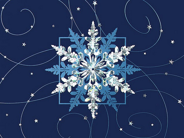 Christmas Card with Snowflake - Puzzles-Games.eu - puzzles games