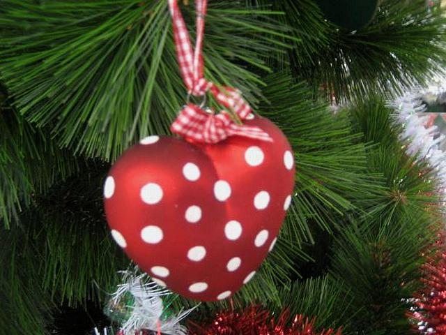 Christmas Tree-Decoration Red Heart with White Dots - Beautiful decoration for Christmas tree in shape of red heart with white dots. - , Christmas, tree, trees, decoration, decorations, red, heart, hearts, white, dots, dot, holiday, holidays, feast, feasts, festivity, festivities, celebration, celebrations, seasons, season, beautiful, shape, shapes - Beautiful decoration for Christmas tree in shape of red heart with white dots. Solve free online Christmas Tree-Decoration Red Heart with White Dots puzzle games or send Christmas Tree-Decoration Red Heart with White Dots puzzle game greeting ecards  from puzzles-games.eu.. Christmas Tree-Decoration Red Heart with White Dots puzzle, puzzles, puzzles games, puzzles-games.eu, puzzle games, online puzzle games, free puzzle games, free online puzzle games, Christmas Tree-Decoration Red Heart with White Dots free puzzle game, Christmas Tree-Decoration Red Heart with White Dots online puzzle game, jigsaw puzzles, Christmas Tree-Decoration Red Heart with White Dots jigsaw puzzle, jigsaw puzzle games, jigsaw puzzles games, Christmas Tree-Decoration Red Heart with White Dots puzzle game ecard, puzzles games ecards, Christmas Tree-Decoration Red Heart with White Dots puzzle game greeting ecard