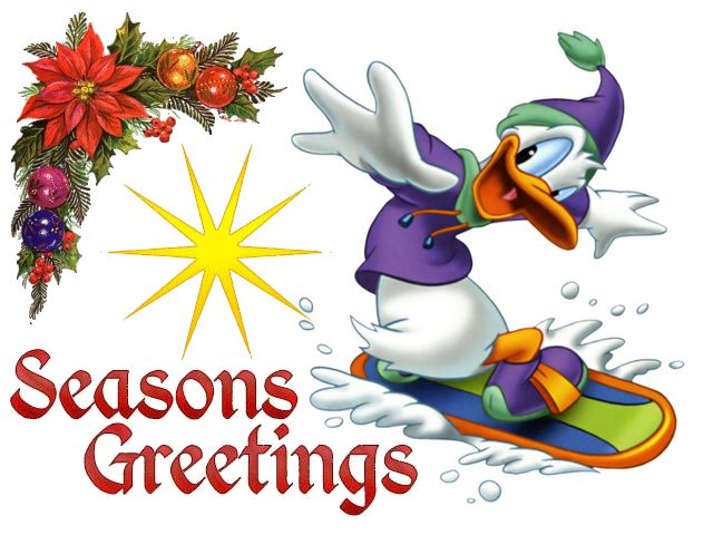 disney christmas donald duck on snowboard greeting card beautiful greeting card for christmas with donald - Donald Duck Christmas