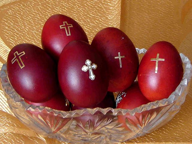 Greek Easter Eggs - The hard-boiled eggs, dyed in dark brilliant red colour, made by Orthodox Christians in Greece and Middle East,  are the brightest symbol of Greek Easter. The egg itself is an emblem of the Resurrection, while the red colour symbolizes the redeeming blood of Christ that was shed to absolve the sins of man. - , Greek, Easter, eggs, egg, holidays, holiday, hard, boiled, dark, brilliant, red, colour, colours, Orthodox, Christians, Christian, Greece, Middle, East, symbol, symbols, emblem, emblems, Resurrection, redeeming, blood, Christ, sins, sin, man, men - The hard-boiled eggs, dyed in dark brilliant red colour, made by Orthodox Christians in Greece and Middle East,  are the brightest symbol of Greek Easter. The egg itself is an emblem of the Resurrection, while the red colour symbolizes the redeeming blood of Christ that was shed to absolve the sins of man. Solve free online Greek Easter Eggs puzzle games or send Greek Easter Eggs puzzle game greeting ecards  from puzzles-games.eu.. Greek Easter Eggs puzzle, puzzles, puzzles games, puzzles-games.eu, puzzle games, online puzzle games, free puzzle games, free online puzzle games, Greek Easter Eggs free puzzle game, Greek Easter Eggs online puzzle game, jigsaw puzzles, Greek Easter Eggs jigsaw puzzle, jigsaw puzzle games, jigsaw puzzles games, Greek Easter Eggs puzzle game ecard, puzzles games ecards, Greek Easter Eggs puzzle game greeting ecard