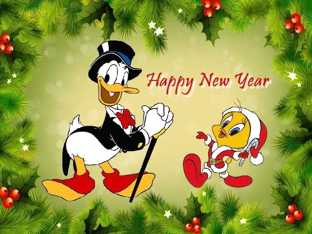 Happy-New-Year-with-Donald-Duck-and-Twee