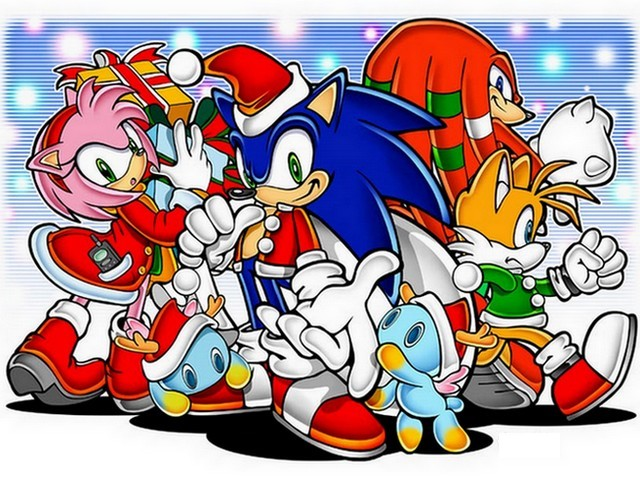 Sonic and Friends Christmas Wallpaper - Sonic, the blue hedgehog who can run at the speed of sound and his friends at Christmas, a wallpaper from a video game series by Sega Corporation, Tokyo, Japan. - , Sonic, friends, friend, Christmas, wallpaper, wallpapers, holidays, holiday, festival, festivals, celebration, celebrations, blue, hedgehog, hedgehogs, speed, speeds, sound, sounds, video, game, games, series, serie, Sega, Corporation, Tokyo, Japan - Sonic, the blue hedgehog who can run at the speed of sound and his friends at Christmas, a wallpaper from a video game series by Sega Corporation, Tokyo, Japan. Solve free online Sonic and Friends Christmas Wallpaper puzzle games or send Sonic and Friends Christmas Wallpaper puzzle game greeting ecards  from puzzles-games.eu.. Sonic and Friends Christmas Wallpaper puzzle, puzzles, puzzles games, puzzles-games.eu, puzzle games, online puzzle games, free puzzle games, free online puzzle games, Sonic and Friends Christmas Wallpaper free puzzle game, Sonic and Friends Christmas Wallpaper online puzzle game, jigsaw puzzles, Sonic and Friends Christmas Wallpaper jigsaw puzzle, jigsaw puzzle games, jigsaw puzzles games, Sonic and Friends Christmas Wallpaper puzzle game ecard, puzzles games ecards, Sonic and Friends Christmas Wallpaper puzzle game greeting ecard