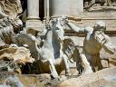 Trevi Fountain Rome Italy Obedient Sea Horse