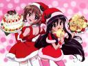 Christmas Anime Girls in Santa Costumes