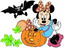 Disney Halloween Minnie Mouse with Pumpkin Wallpaper