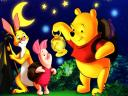 Disney Halloween Winnie the Pooh Piglet and Rabbit Wallpaper