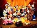 Disney Mickey Mouse Conductor of Orchestra Wallpaper