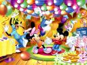Disney Mickey Mouse with Friends at Birthday Party Wallpaper