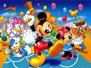 Disney Summer Mickey Mouse and Friends at Festival Wallpaper