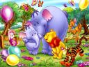 Disney Summertime Winnie the Pooh and Dumbo Baby Mine Wallpaper