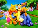 Disney Summertime Winnie the Pooh and Friends Wallpaper