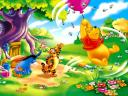 Disney Summertime Winnie the Pooh flying Wallpaper