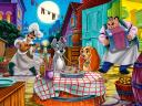 Disney Valentines Day Lady and the Tramp Romantic Dinner Wallpaper