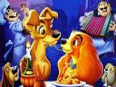 Disney Valentines Day Lady and the Tramp Wallpaper