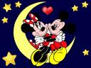 Disney Valentines Day Mickey Mouse with Minnie on Moon Wallpaper