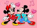 Disney Valentines Day Minnie and Mickey Mouse dancing Wallpaper